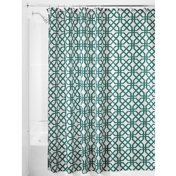 AmazonSmile - InterDesign Trellis Shower Curtain, 72 x 72, Stone -