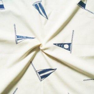 Baumwollstoff bedruckt  Flaggen  Creme-Weiss