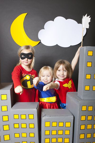 photo booth for superhero party - need an adult sized one.