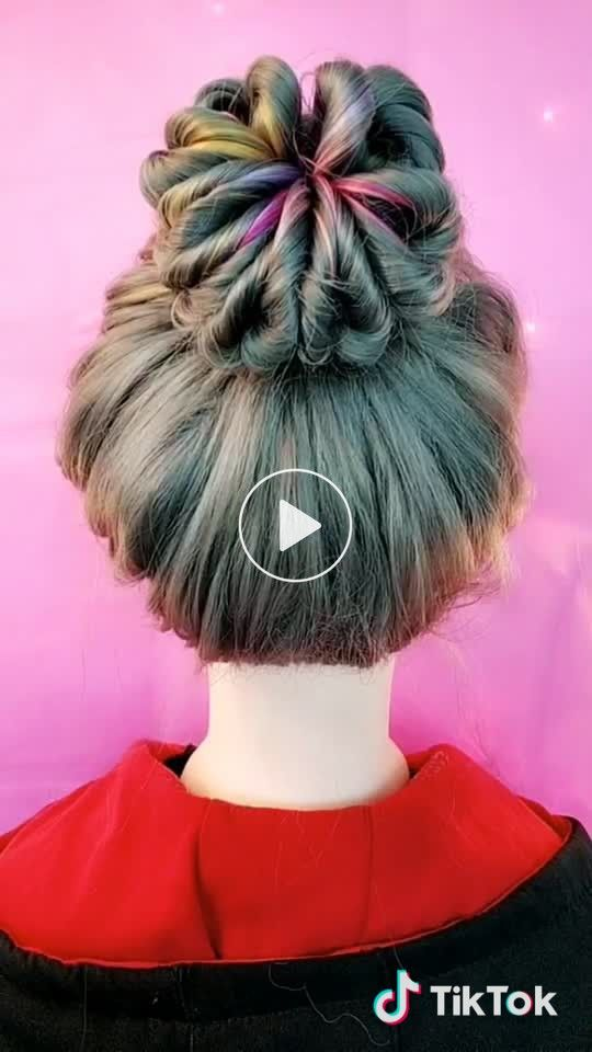 Tutorial For You Has Just Created An Awesome Short Video With Original Sound Huongdanchoban Hair Styles Bun Hairstyles Hair Bun Tutorial