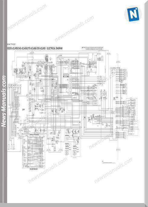 Hitachi Zaxis 200 240 270 330 3 Electrical Diagram Electrical Diagram Electrical Wiring Diagram Hitachi