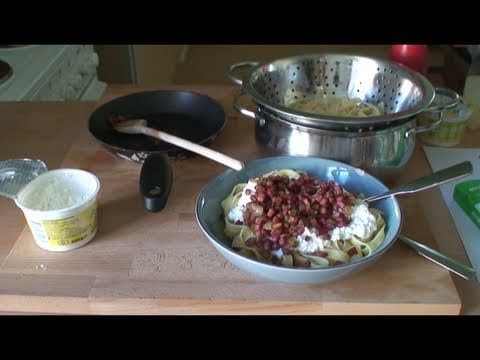 NUDELN mit Frischkäse - schnelles einfaches Rezept - PASTA - YouTube