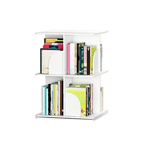 Xf Hong Tai Yang Bookshelf Wooden 360 Degree Rotating Bookshelf Small Bookshelf Children S Bookshelf Flo Small Bookcase Simple Bookshelf Wall Bookshelves
