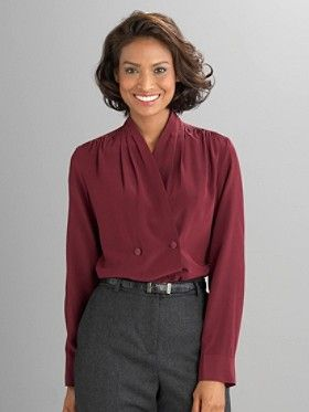 Early/Mid 30's look - Double Drape Blouse, also in cream