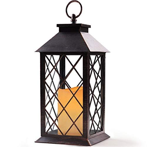 Bright Zeal 14 Tall Vintage Candle Lantern With Led Flic Https Www Amazon Com Dp B078npj Vintage Candles Hanging Candle Lanterns Outdoor Hanging Lanterns