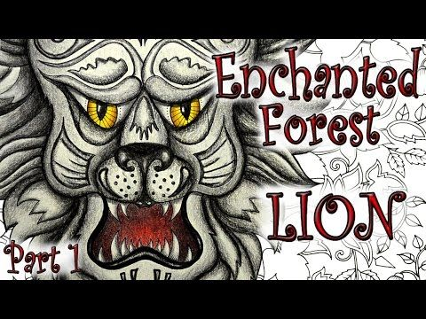 Enchanted Forest Coloring Book Tutorial Lion Part 1 Colored Pencils Youtube Enchanted Forest Coloring Book Enchanted Forest Coloring Forest Coloring Book
