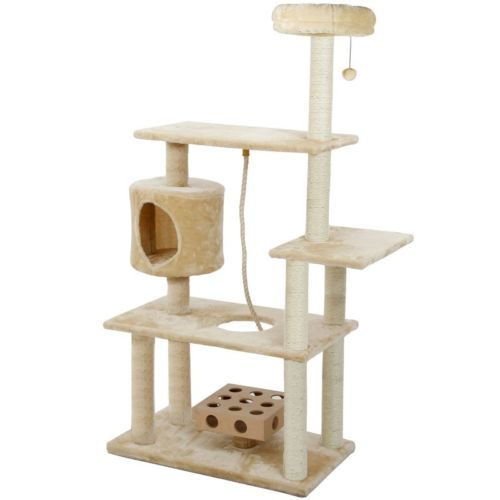 Deluxe Cat Tree Tower 55 034 Condo Furniture Scratching Post Pet Kitty Play House Cat Tree House Pet Furniture Cat Furniture