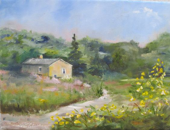 Original plein air oil painting.  Lovely  by NancyCaseyGallery