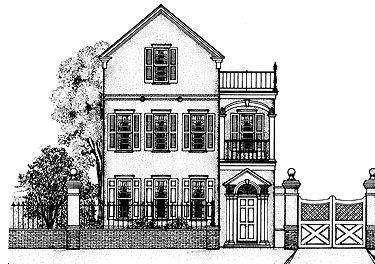 Charleston charm hwbdo64080 adam federal house plan for Charleston single house plans