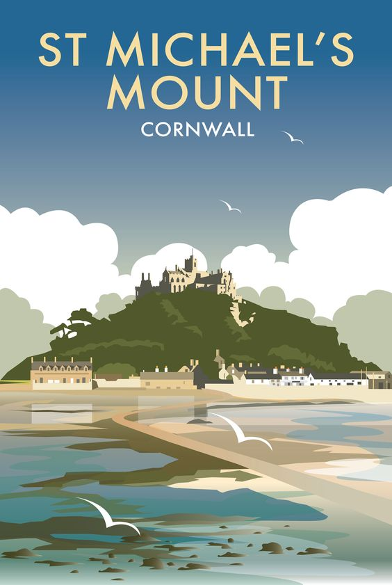 St Michael's Mount (DT38F) Beach and Coastal Print by Dave Thompson http://www.thewhistlefish.com/product/dt38f-st-michaels-mount-framed-art-print-by-dave-thompson-1 #stmichaelsmount #cornwall