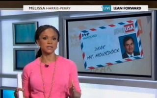 """Melissa Harris-Perry's Open Letter To Republican Richard Mourdock (regarding his statement of)  """"Rape Survivors 'Are The Gift To Ourselves'""""  www.mediaite.com"""