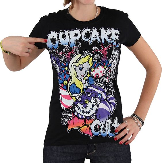 Cupcake cult Alice in wonderland t shirt