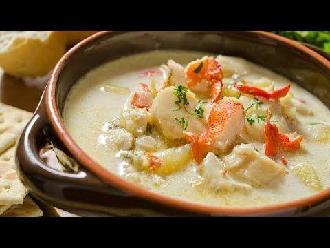 طريقة طبخ شوربة السي فود بدون كريمة مش هتشتريها من بره تاني Youtube Chowder Recipes Seafood Seafood Chowder Recipe Crockpot Seafood Chowder