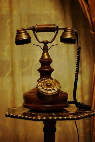 old telephone: