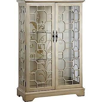 "Stein World Diana 56.13"" Display Cabinet, Silver, Gold (47778)"