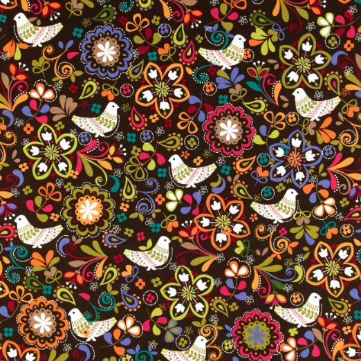 Amazon.com: Michael Miller Birds of Norway Espresso Fabric: Arts, Crafts & Sewing