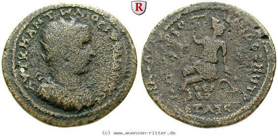 RITTER Kilikien, Anazarbos, Gordianus III., Hexassarion, Sitzender Mann #coins