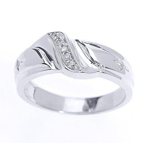 Men 039 S 10k White Gold 7 Stone Diamond Wedding Band Size 8 75 Mens Diamond Wedding Diamond Wedding Bands Mens Diamond Wedding Bands