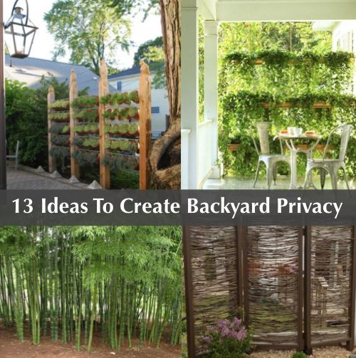 13 attractive ways to add privacy to your backyard http