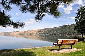 This is where Joshua told me he loved me and he wanted to spend the rest of his life with me. Wallowa Lake State Park. One of the best days of my life!