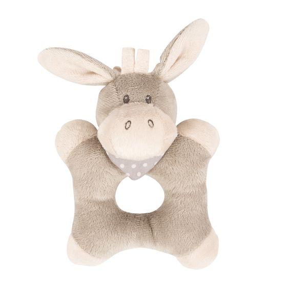 Ringrattle donkey - #baby #bebe #doudou #knuffel #knuffelbeer #cuddlytoy #kuscheltier #nattou #papa #mama #mom #dad #father #mother #parents #maman #grossesse #zwanger #pregnant #pregnancy #zwangerschap #enceinte #cuddly #peluche #plush #Plusch #schwanger #geboorte #geburt #birth #naissance #vater #eltern #mutter #ragdoll #cuddly #toy #cadeau #gift #geschenk #ezel #ane #donkey #esel #bruin #brown #brun #braun #beige