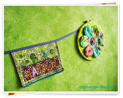 """Flower in embroidery Frame    embroidery Design """"Peace, Love, Happiness"""" by Luzia Pimpinella"""