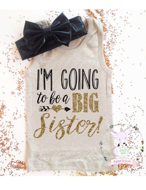I'm going to be a big sister tank top girls big by PurplePossom