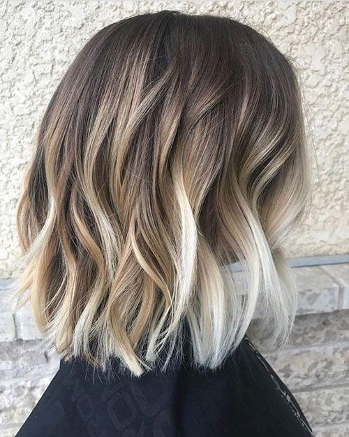Short Caramel Ombre Hair Trend Hairstyles Short Hair Balayage Beach Waves For Short Hair Chic Short Hair