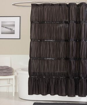 Black Twinkle Shower Curtain | Classy, LUSH and Powder
