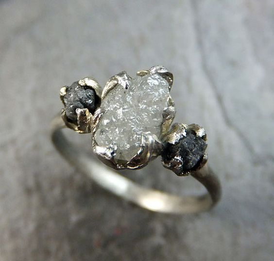 Rough Diamond Rings White Gold Wedding Rings And Rough