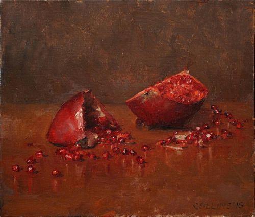 Pomegranates III, 2015 - Jacob Collins (b. 1964)oil on canvas