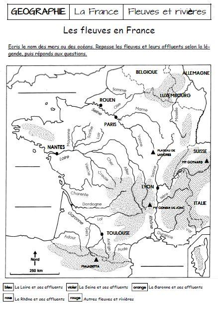 Les fleuves et rivières de France