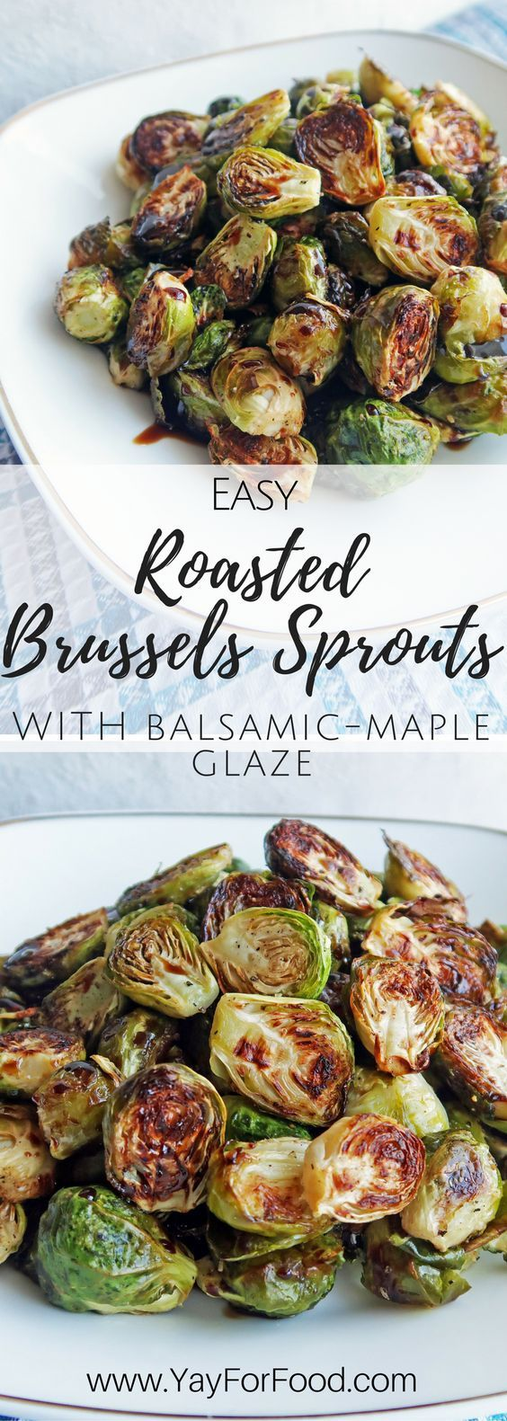 Roasted Brussels Sprouts With Balsamic-Maple Glaze