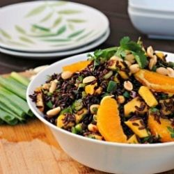 Black Rice Salad with Mango and Peanuts. Is black rice the new brown ...
