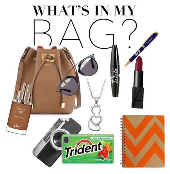 """""""Thats literally my backpack"""" by hope-devoirdevon ❤ liked on Polyvore featuring Casetify, Michael Kors, Christian Dior, NARS Cosmetics, NYX and inmybag"""