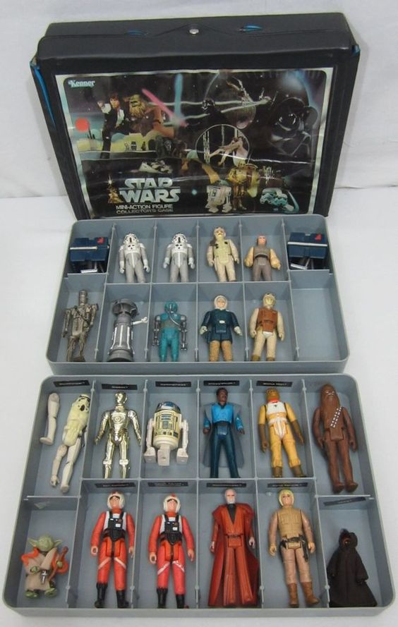Star Wars Toys 1980s : Kenner star wars mini action figure collector s case with