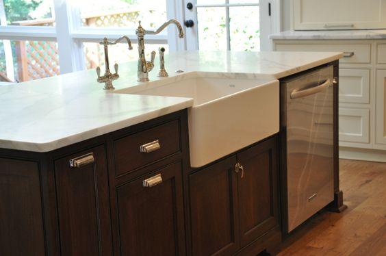 Farmhouse Sink Dishwasher In Island Kitchen Pinterest The O 39 Jays Kitchen Island With Sink