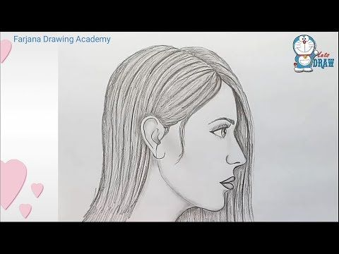How To Draw A Face From The Side Profile View Female Girl Woman Easy Step By Step Drawing Tutorial For Beginners How To Draw Step By Step Drawing Tutori