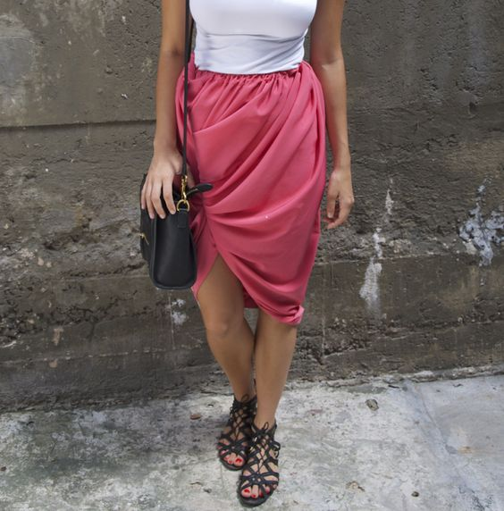 DIY Twist Front Bubble Skirt « a pair & a spare
