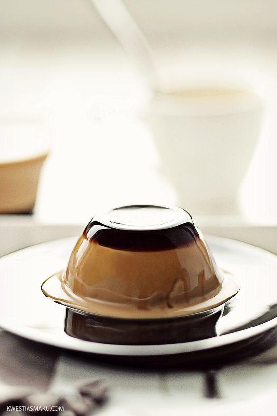 przepis na deser panna cotta, z likierem kawowym lub ...