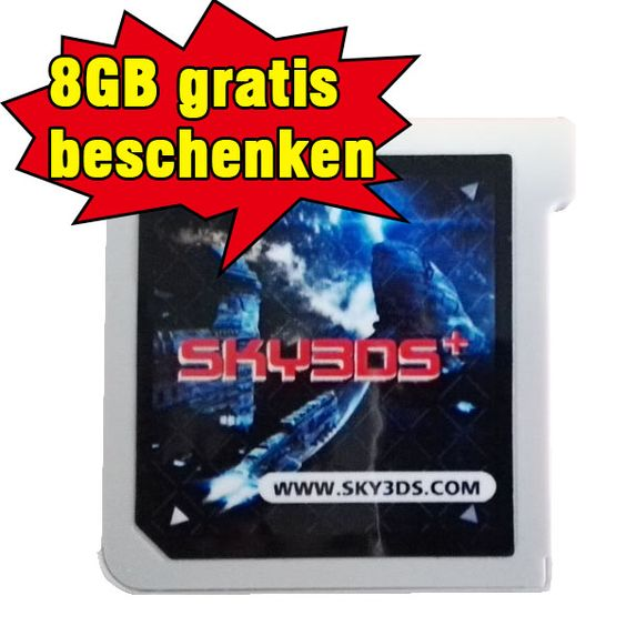 Gute Nachricht! bestekauf liefert Sky3ds+ mit einer kostenlosen 8GB Speicherkarte aus  http://bestekauf.com/bk-adm/index.php?tab=AdminCatalog&image_updated=0&id_product=863&id_category=1&addproduct&conf=4&tabs=0&token=a4773aeb09d4c89081f313d49409c859