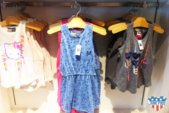 Junk Food Hello Kitty collection in Gap Kids stores now!