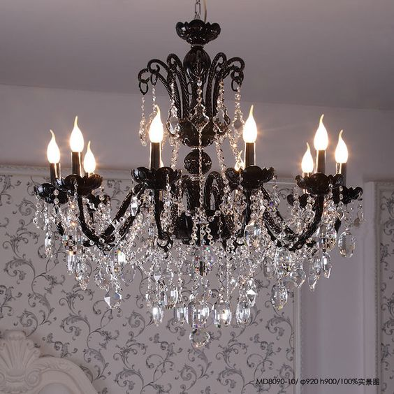 Modern Candle Chandelier Large Crystal Chandelier Stairs Lustres De Cristal Deco Contemporary Modern Chandelier Indoor Lamp