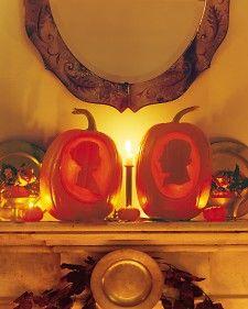 Pumpkin silhouettes