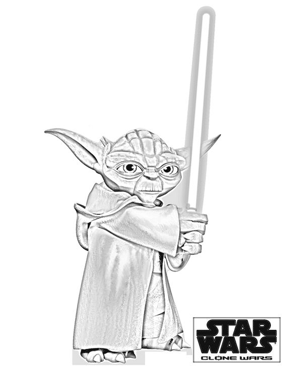 yoda head coloring pages - photo#5