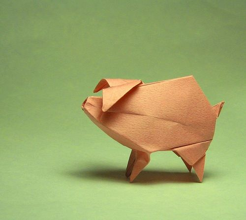 How-to origami site. Bird, pig, unicorn, and fox. sawesome.: