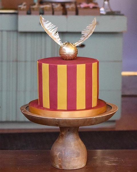 A Harry Potter smash cake by a couple of Harry Potter geeks.