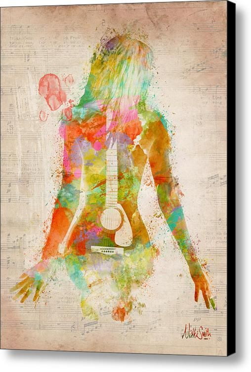 Music Was My First Love Canvas Print / Canvas Art By Nikki Marie Smith