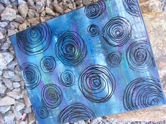 Original Textured Abstract Painting Colorful by alishastratton, $30.00