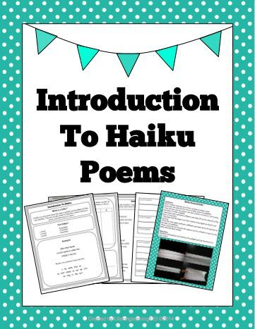introduction to haiku poems a well activities and student. Black Bedroom Furniture Sets. Home Design Ideas